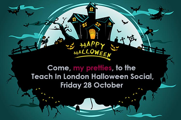 International teachers in London halloween party