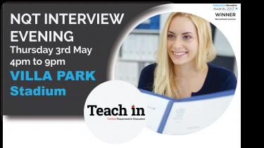 NQT Interview Evening – West Midlands – 3rd May 2018 – Villa Park